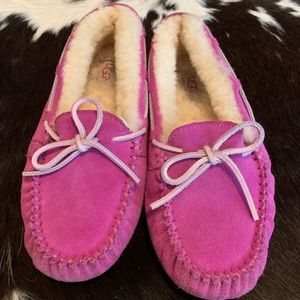 Uggs moccasins pink size 3
